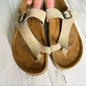 Naot leather sandals size 7 brown and tan